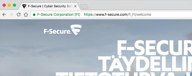 F-Secure SSL Certificate